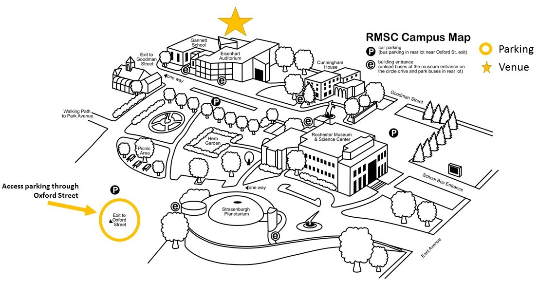 Map of RMSC campus and parking